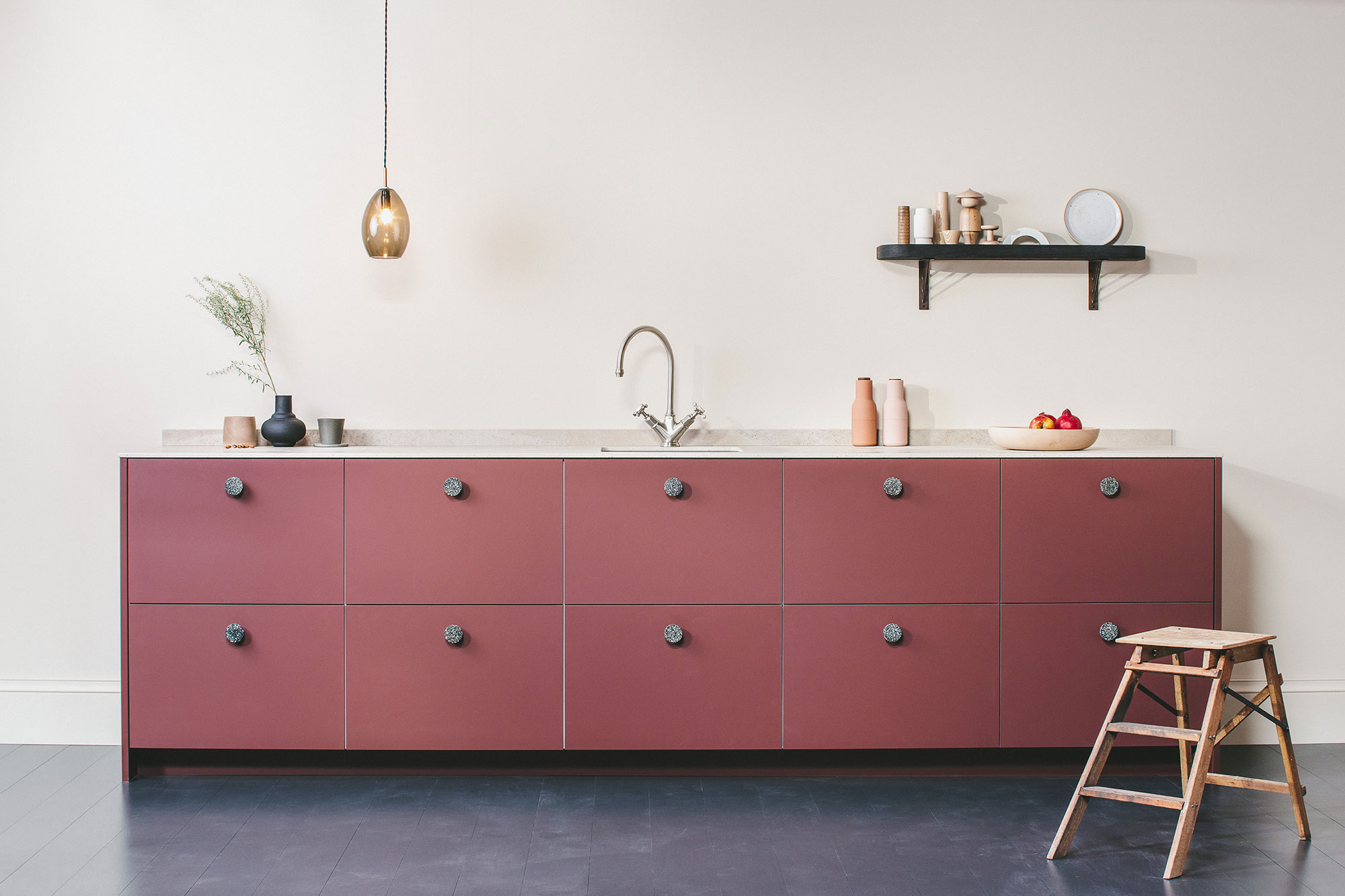 husk bespoke kitchen red